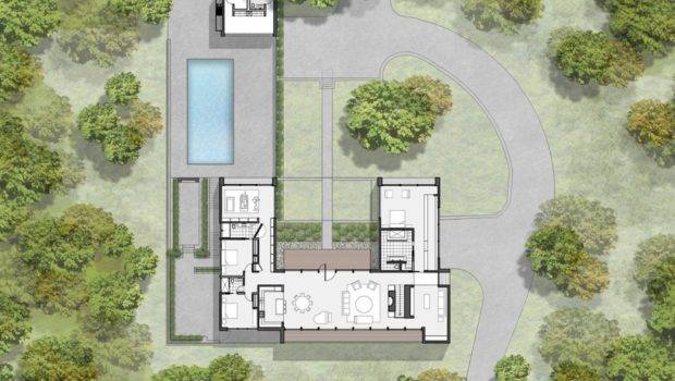 Modern Two Story Shaped House