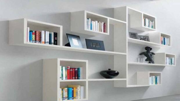 Modern Wall Bookshelves Design