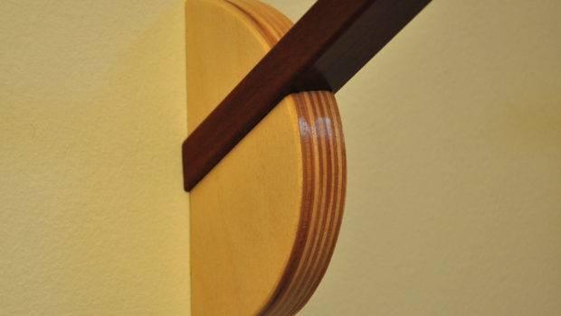Modern Wall Hook Sundial Brazilian Cherry Baltic