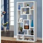 Modern White Bookcase Book Covers