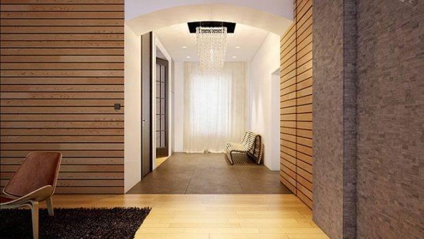 Modern Wood Clad Interior Walls