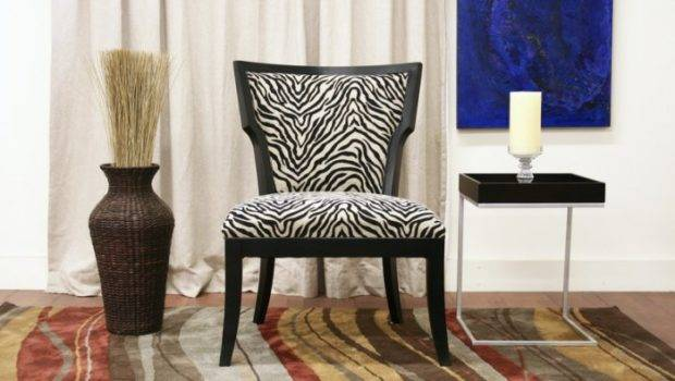 Modern Zebra Print Living Dining Room Accent Side Chair