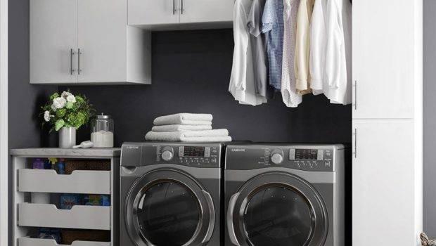 Modifi Horizon White Laundry Cabinet Kit Enl