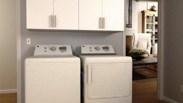Modifi Madison Mocha Open Shelves Laundry Cabinet