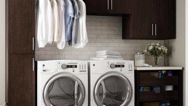 Modifi Madison White Open Shelves Laundry Cabinet