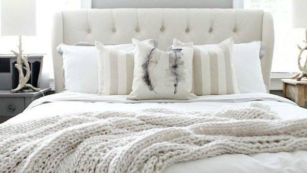 Monochromatic Color Cozy Bedroom Interior Decorating