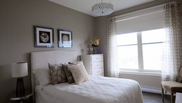 Monochromatic Guest Room Contemporary Bedroom Other
