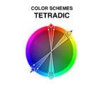 Most Varied Because Uses Two Complementary Color Pairs