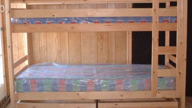 Narrow Pine Bunk Beds Mattress Can