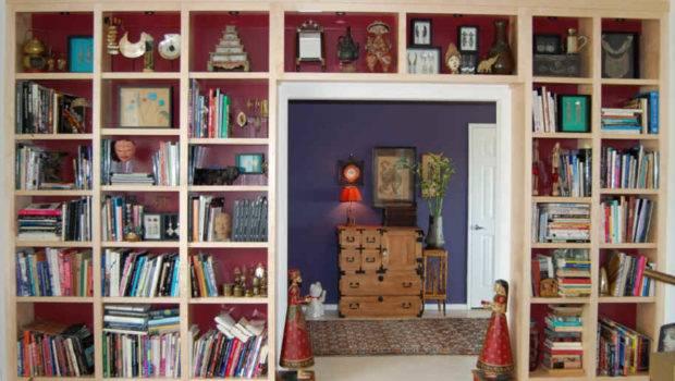 Natural Maple Wallto Wall Floor Ceiling Built Bookshelves