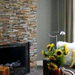 Natural Stacked Stone Veneer Fireplace Stack