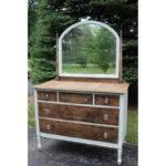 Natural White Dresser Mirror Vintique Rentalsvintique Rentals
