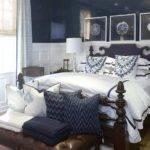 Navy Accent Wall Bedroom
