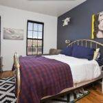 Navy Blue Accent Wall Focal Point Bedroom Inside