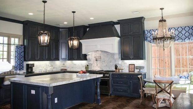 Navy Blue Kitchen Cabinets Design Decor Photos Ideas