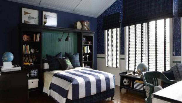 Navy Dark Blue Bedroom Design Ideas