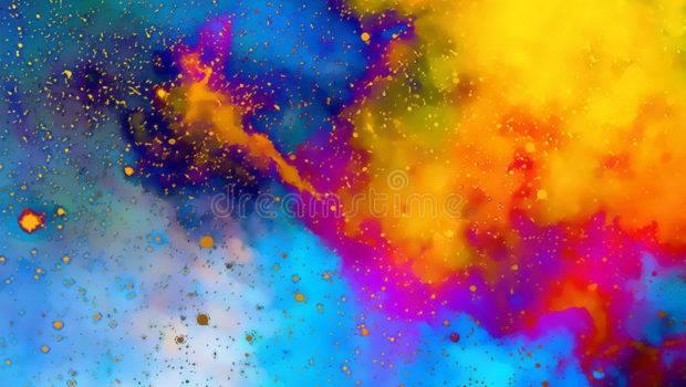 Nebula Cosmic Space Stars Color Fractal