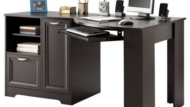 New Corner Desk Computer Wood Table Shaped Home Office