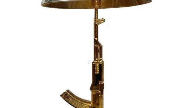 New Creative Gun Table Lamp Desk Lighting