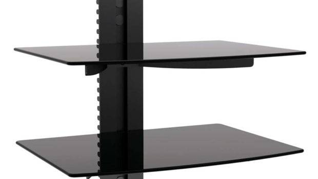 New Dual Glass Shelf Component Cable Box Dvr Dvd