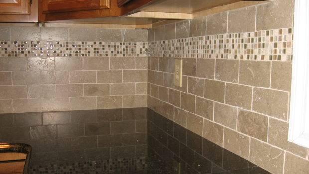 New Kitchen Backsplash Tumbled Limestone Subway Tile Mixed
