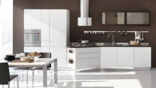 New Modern Kitchen Design White Cabinets Bring Stosa