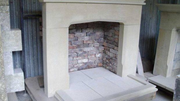 New Repro Replica Stone Smooth Face Fire Surround Back Hearth