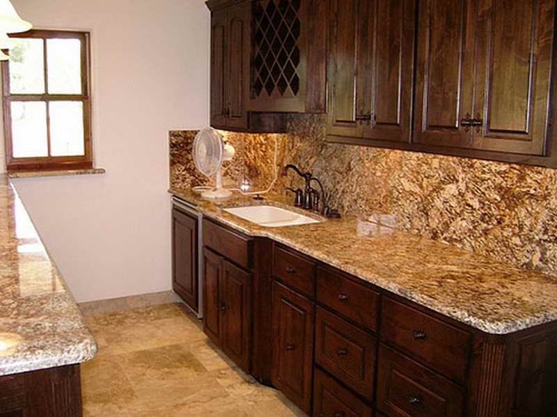 New Venetian Gold Granite Kitchen Backsplash Ideas - Cute ...