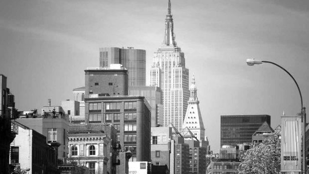 New York City Buildings Photography Black White