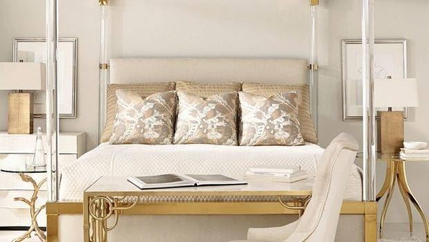 Nightstands Bedside Tables Add Golden Glint