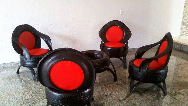 Nine Ingenious Furniture Pieces Made Recycled Tires Homecrux