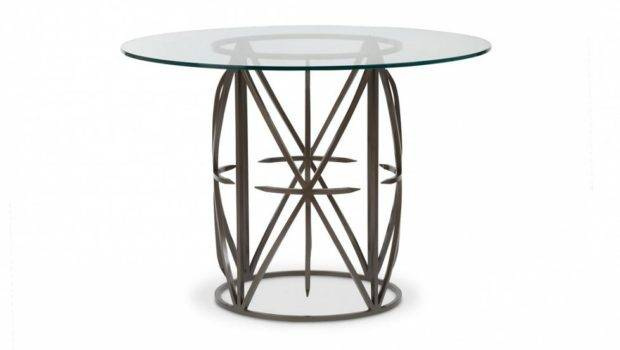 Occasionals Glass Top Round Dining Table Bolier