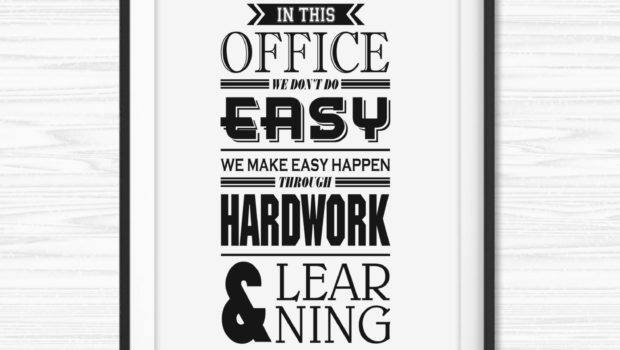 Office Wall Art Motivational Poster Inspiration Canvas Quotes