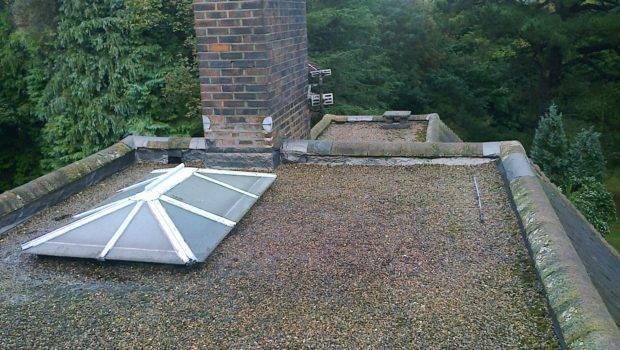 Old Asphalt Roof Replaced New Epdm
