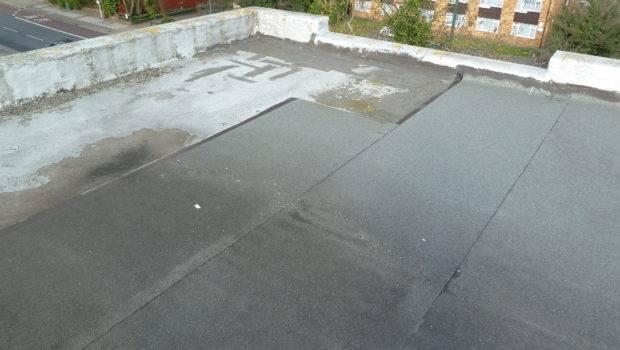 Old Flat Roof Before Liquid