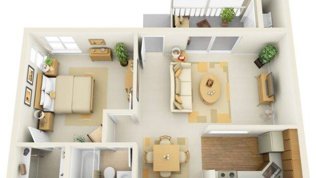 One Bedroom Apartment House Plans Architecture Design