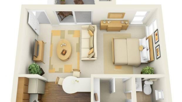 One Bedroom Apartments Floor Plans Ideas