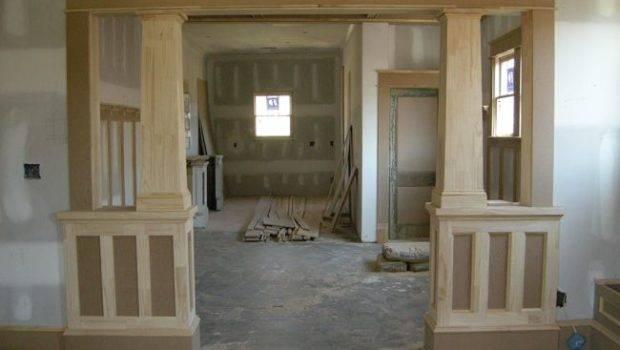 Ontario Park Bungalow Blog Interior Columns Craftsman