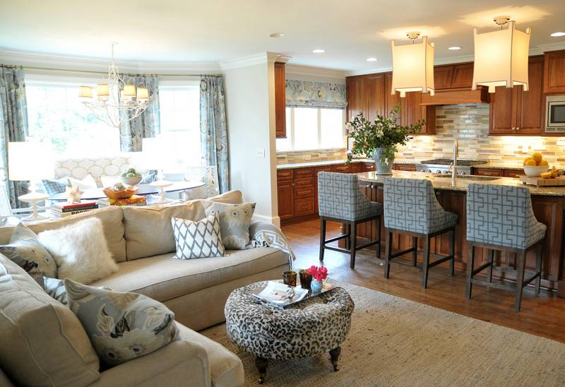 Open Concept Kitchen Living Room Cor - Cute Homes #50486