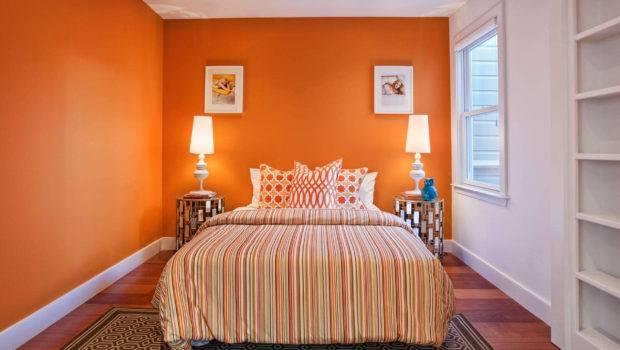 Orange Paint Colors Bedroom Home Combo