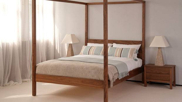 Orchid Four Poster Bed Solid Wood Natural Company