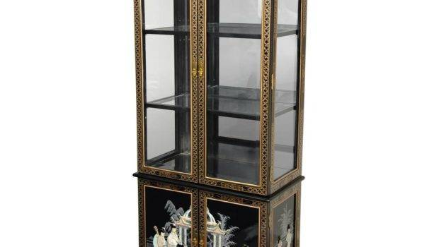 Oriental Furniture Black Mother Pearl Ladies Lacquer