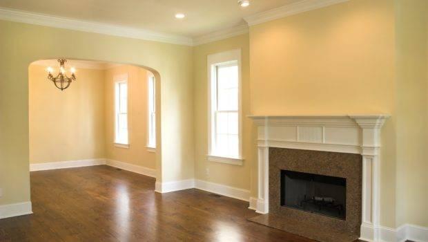 Original Design Interior Fireplace Flat Room Empty