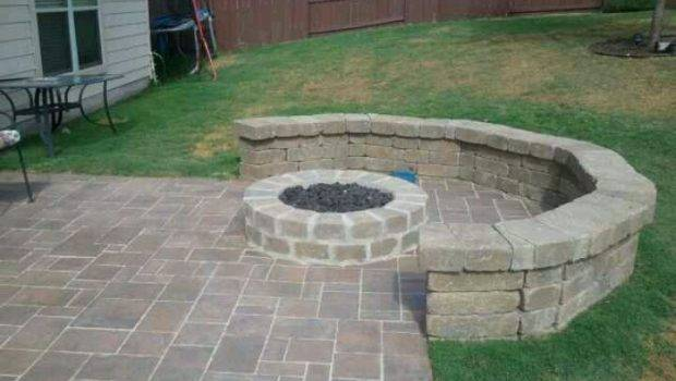 Outdoor Fire Pit Seating Put All Way Around