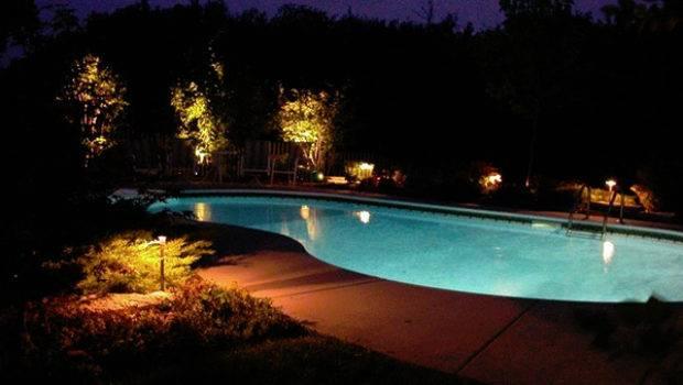 Outdoor Gardening Columbus Pool Area Landscape Lighting