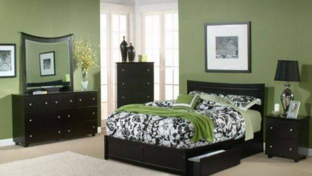 Paint Color Schemes Modern Bedroom Interior Wall Green