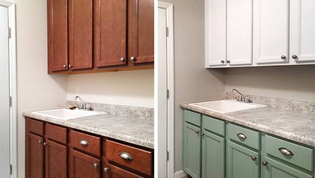 Painted Laundry Room Cabinets Nest Less