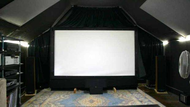 Painted Theater Half Room Black Put Rope Lights