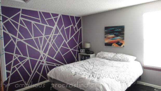 Painter Tape Wall Design Diamond Vogel