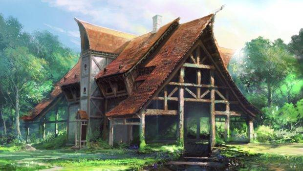 Paintings Fantasy Art Artwork House
